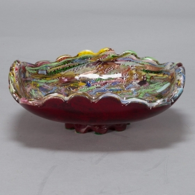 Photo of antique Large Murano Zanfirico Millifiore Tutti Frutti Bowl