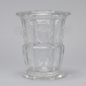 Photo of antique Large Early 20th Century French Crystal Ice Bucket
