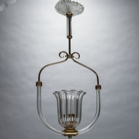 Photo of antique Murano Bird Cage Style Hanging Fixture