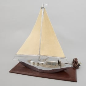 Photo of antique Art Deco Sail Boat Yacht Lamp