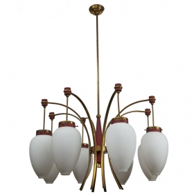 Photo of antique Italian Mid Century Chandelier by Luigi Molin
