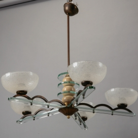 Photo of antique Circa 1930s Italian Chandelier Chandelier in Style of Paolo Buffa