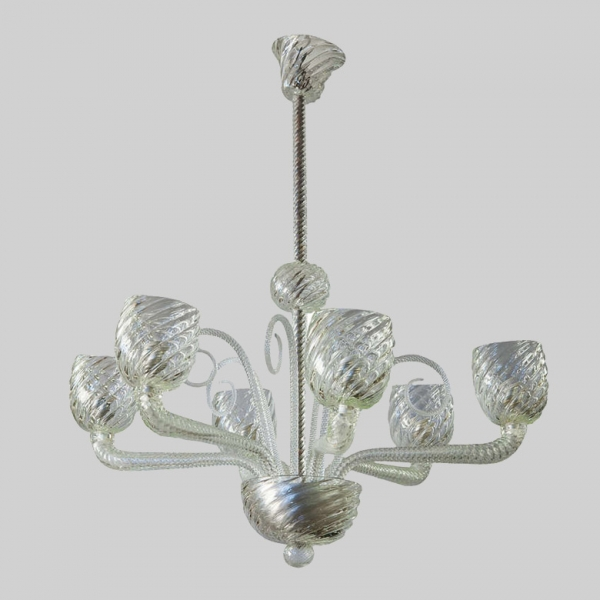 barovier and toso six arm chandelier