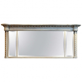Photo of antique Bleached Three Section Mirror with Barley Twist Columns