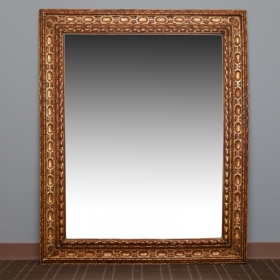 Photo of antique Large Belgian Carved Gilt Wood Mirror