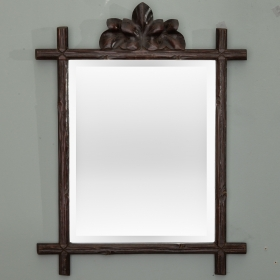 Photo of antique 19th Century Black Forest Frame with Mirror