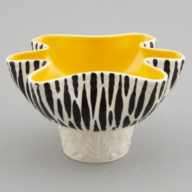 Photo of antique Beswick Mid Century Zebra Stripe Planter Bowl