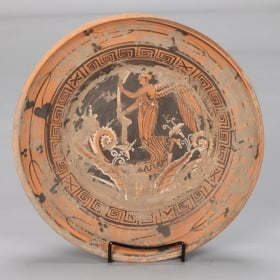 Photo of antique Late 19th Century Grand Tour Piece Evocative of Etruscan Pottery Charger