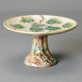 Photo of antique Ivy Design Majolica Compote