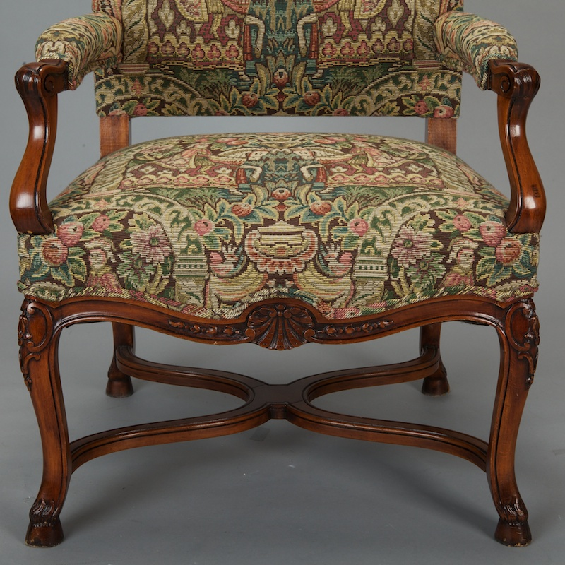 Missoni Fabric Covered Bergere Chair: French 19th Century Bergere Covered In Old World-Style