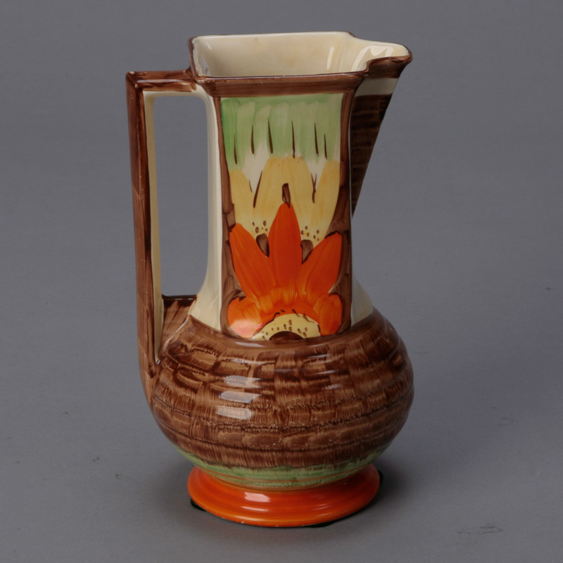 Myott Pottery Pitcher With Square Neck Item 4615