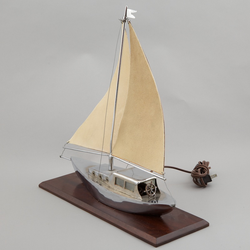 Art Deco Sail Boat Yacht Lamp Item 1443
