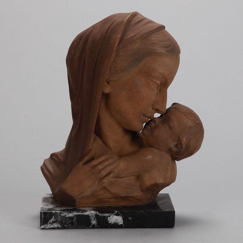 Johanne Dommisse Madonna And Child Terra Cotta Bust Item