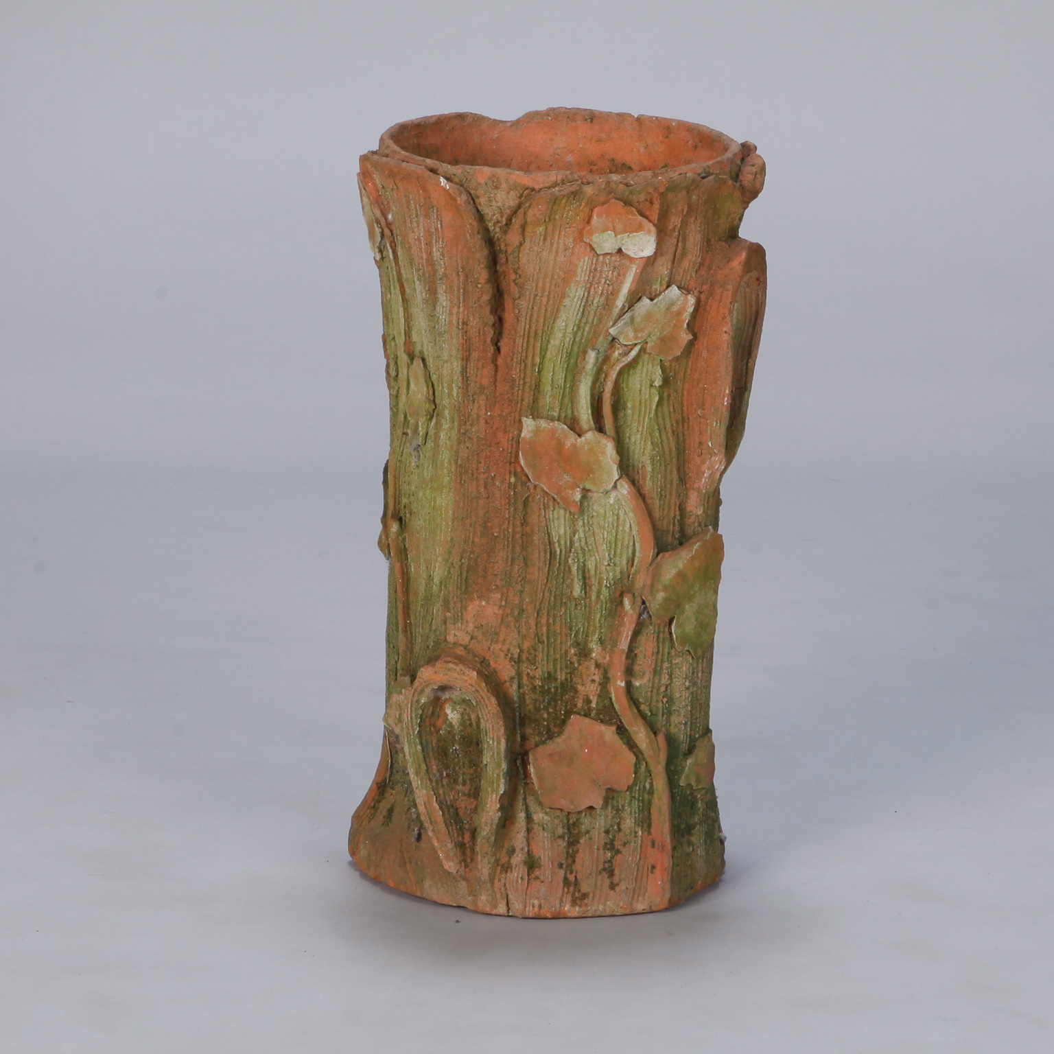 Art nouveau terra cotta tree stump umbrella stand item7490 images reviewsmspy