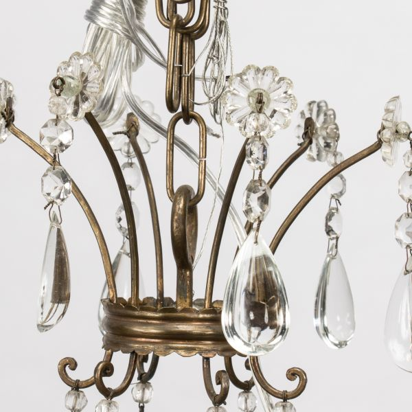 French Empire 6 Lite Chandelier Item 8382