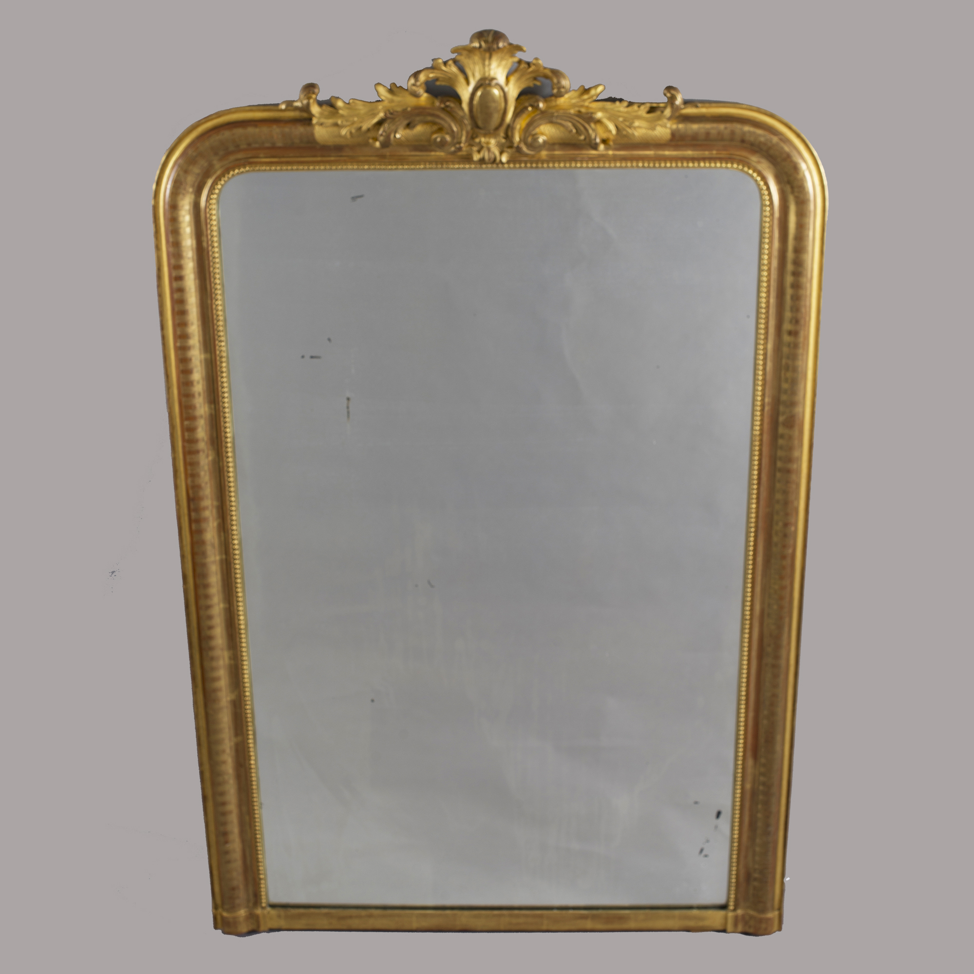 Tall Gilt Louis Philippe Mirror With Crest Item 8522