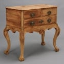English Bleached Oak Chest on Carved Legs