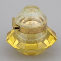 Art Deco Gold Glass Inkwell