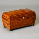 19th Century Rosewood Tea Caddy with Ivory Escutcheons