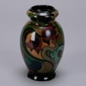 1930s Gouda Vase with Abstract Floral Glaze