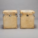Pair of 19th Century Vellum Trunks