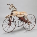 19th Century English Wooden Horse Tricycle