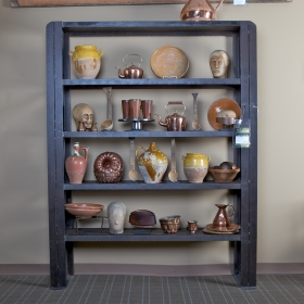 Large Industrial Metal Shelf Unit