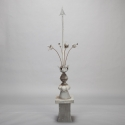 French Zinc Finial with Stemmed Flowers