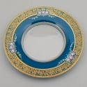 Bavarian Glass Plate with Enamel Overlay