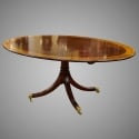 Oval English Mahogany Tilt Top Breakfast Table