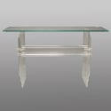 Mid Century Glass and Lucite Console