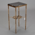 Italian Gilded Iron Side Table with Marble Top