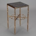 Italian Gilded Iron and Marble Square Side Table