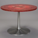Mid Century Franz & Sons Red Painted and Lacquered Table
