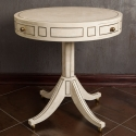 Mid Century Maitland Smith Tesselated Stone and Brass Side Table