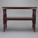 19th Century English Mahogany Two Tier Server