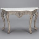 19th Century French Carved Console with Marble Top