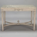19th Century Swedish Center Table with Marble Top
