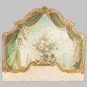 French Trompe l'Oeil Wooden Panel or Headboard