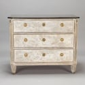Swedish Gustavian Three Drawer Chest with Black Marble Top