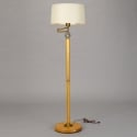 French Art Deco Wooden Floor Lamp