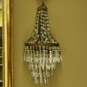 Pair Large Crystal Wedding Cake Sconces