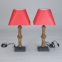 Pair Lamps Made with 19th Century Spanish Architectural Elements