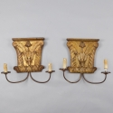 Pair 18th Century Architectural Fragment Sconces