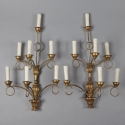 Pair of French Giltwood 7 Light  Sconces