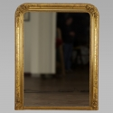 Large French Gilt Mirror with Flowers