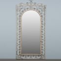 French White Painted Iron Mirror