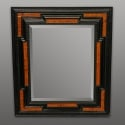 19th Century Black and Burlwood Dutch Mirror