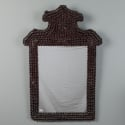 19th Century Fir Cone Framed Mirror with Crest