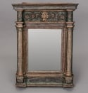 Late 18th Century Italian Mirror With Original Blue Paint